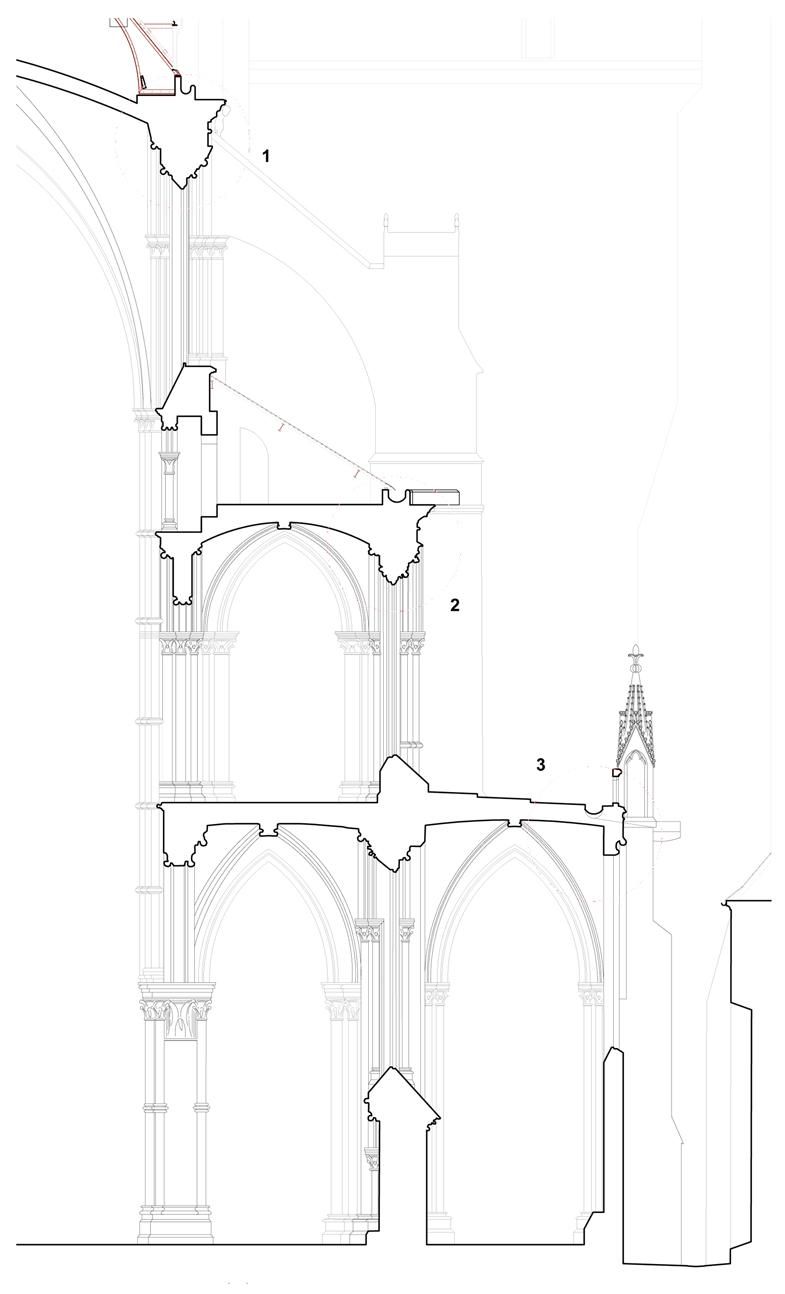 Agence Caillault ACMH – Cathédrale Notre-Dame de Laon – Coupe sur la nef