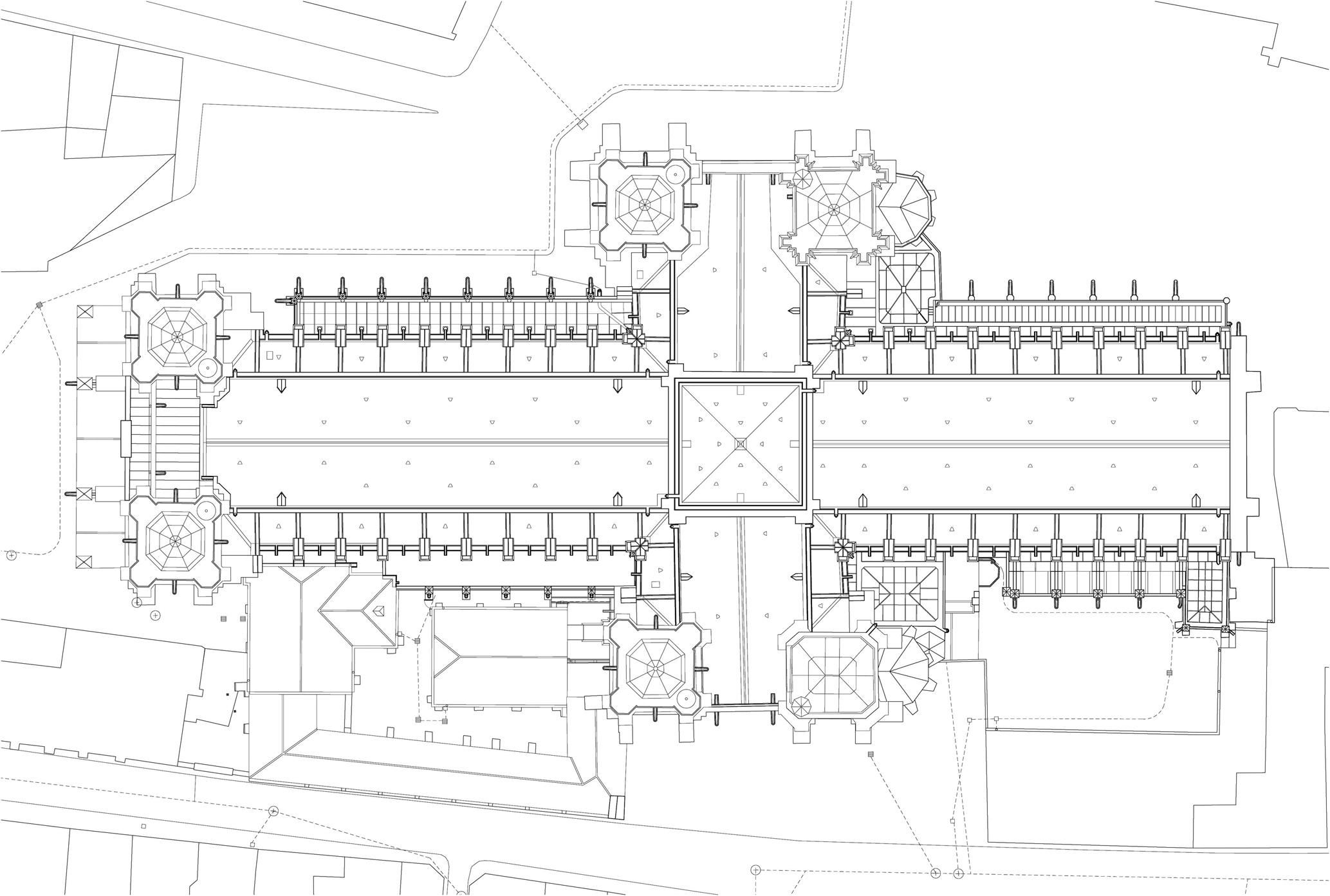 Agence Caillault ACMH – Cathédrale Notre-Dame de Laon – Plan des couvertures