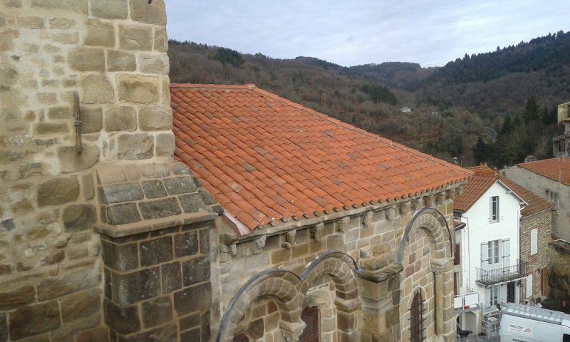 Agence Caillault ACMH – Collégiale Saint-Laurent d'Auzon – Couverture du chevet restaurée