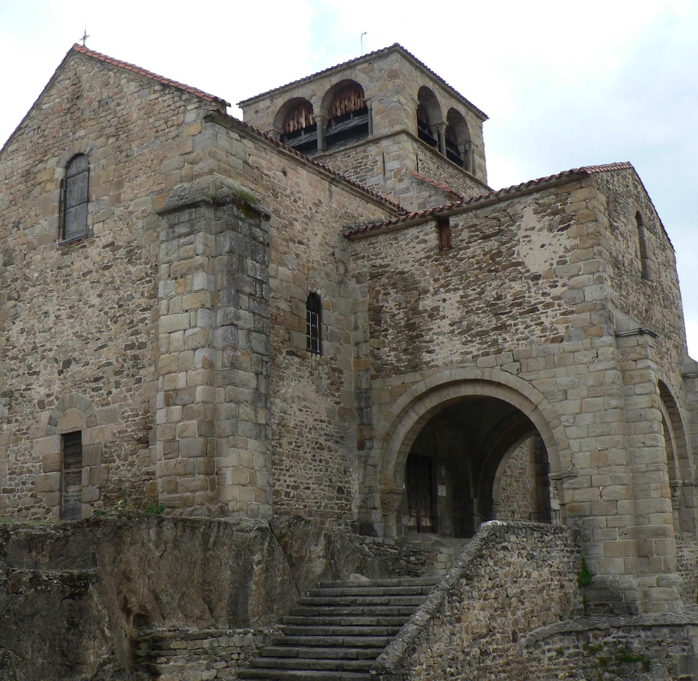 Agence Caillault ACMH – Collégiale Saint-Laurent d'Auzon – Façade ouest avant restauration