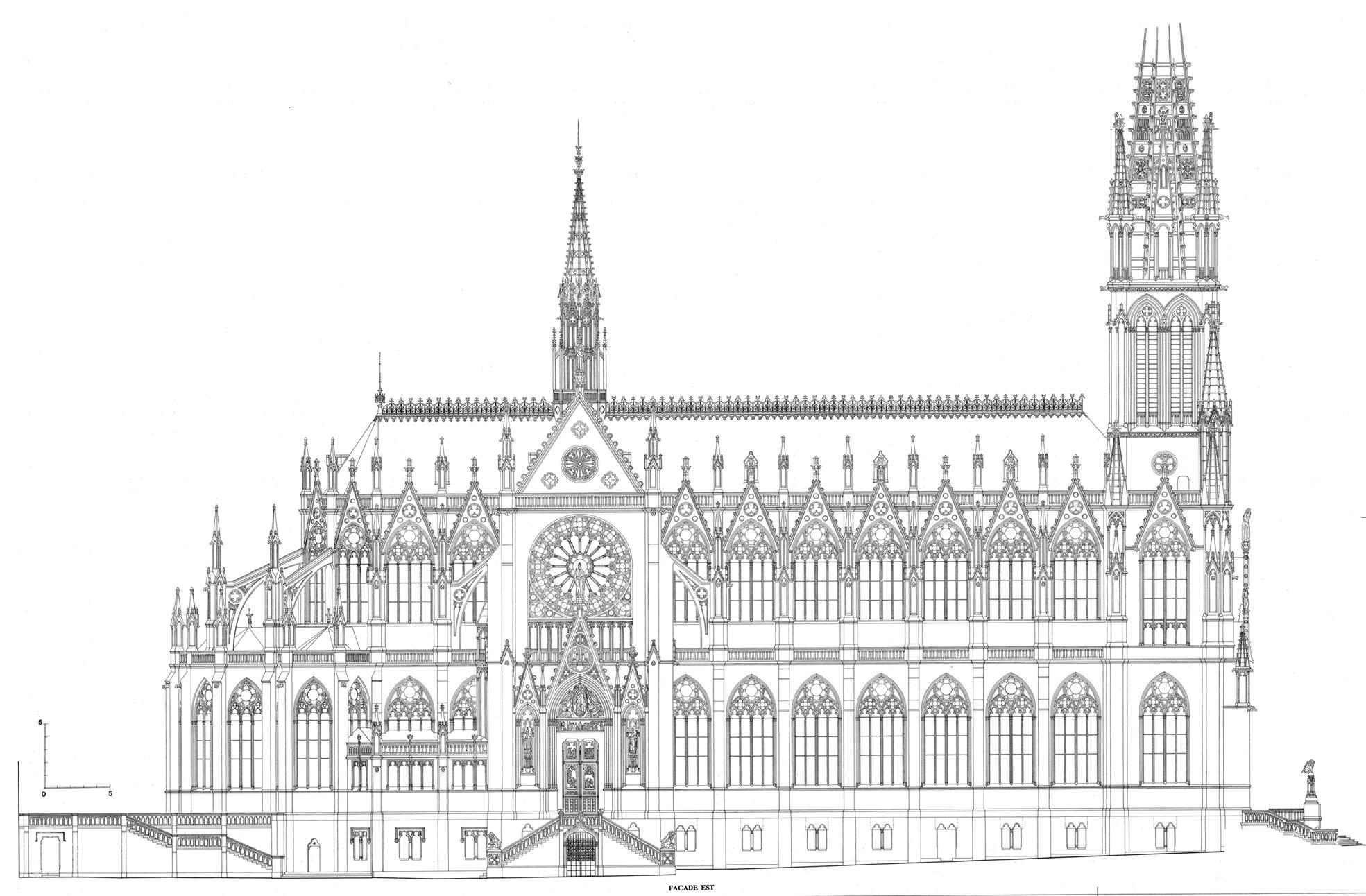 Agence Caillault ACMH – Eglise Saint Epvre – Nancy – Elévation de la façade est