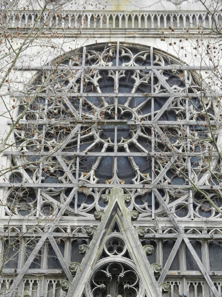 Agence Caillault ACMH – Eglise Saint Epvre – Nancy – Rose ouest avant restauration