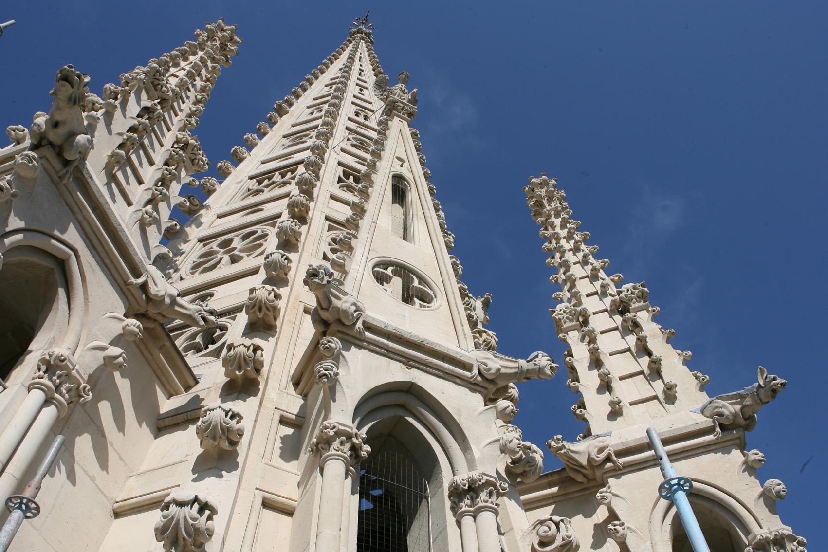 Agence Caillault ACMH – Eglise Saint Epvre – Nancy – Vue de la flèche restaurée