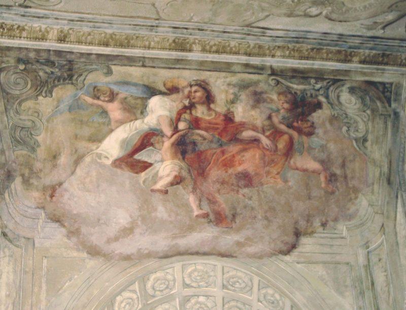 Agence Caillault ACMH – Hôtel de Ville – Nancy – Décor des murs de l'escalier d'Honneur après restauration
