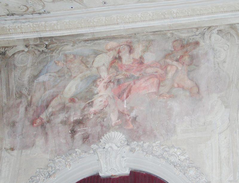 Agence Caillault ACMH – Hôtel de Ville – Nancy – Décor des murs de l'escalier d'Honneur avant restauration