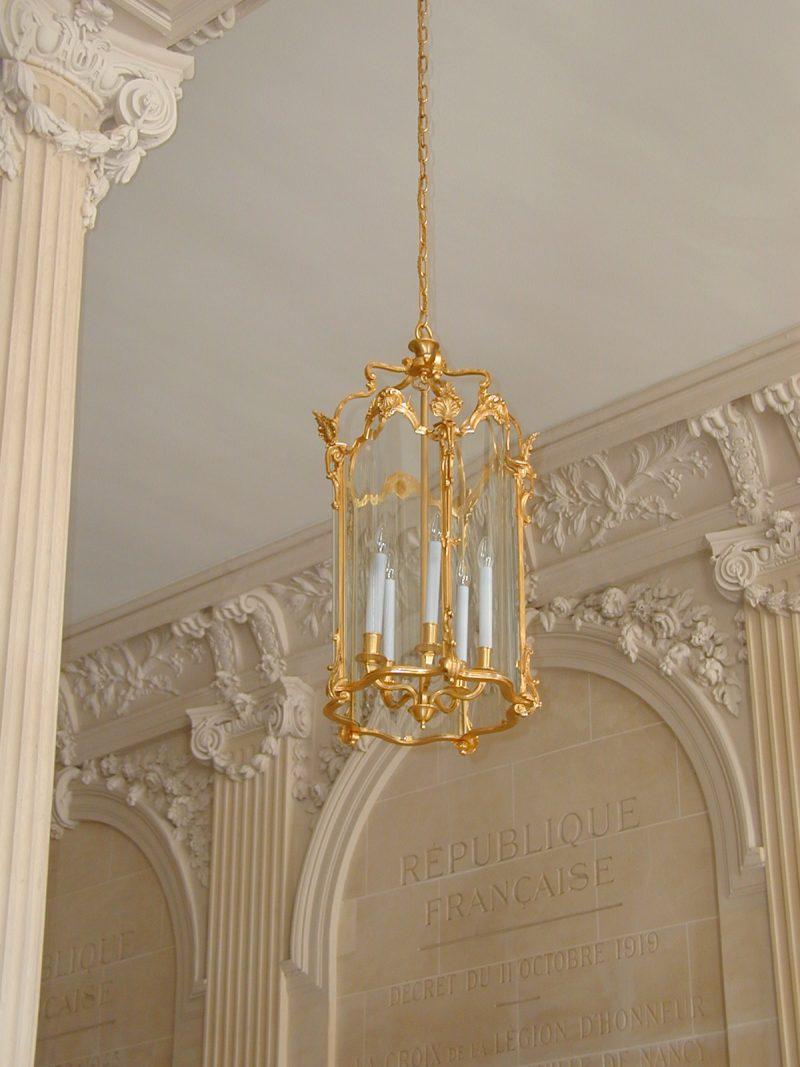 Agence Caillault ACMH – Hôtel de Ville – Nancy –  Détail du peristyle restauré