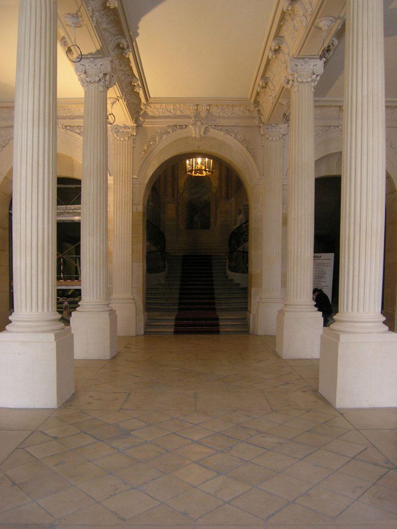 Agence Caillault ACMH – Hôtel de Ville – Nancy –  Peristyle restauré