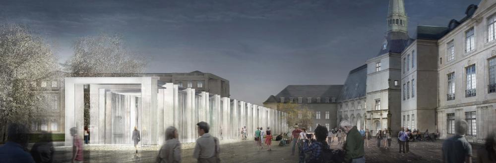 Agence Caillault ACMH -Musée lorrain – Nancy – Vue nocturne du projet