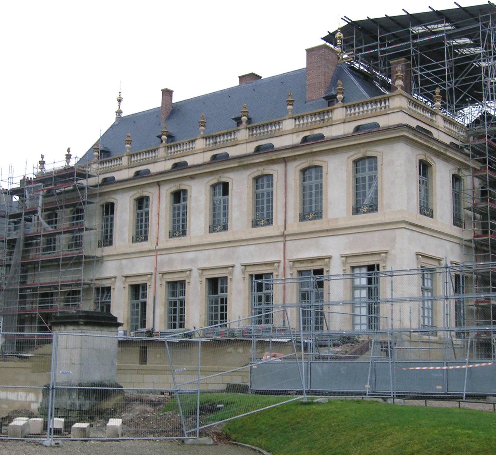 Agence Caillault ACMH – Palais ducal – Luneville – Chantier de restauration des façades