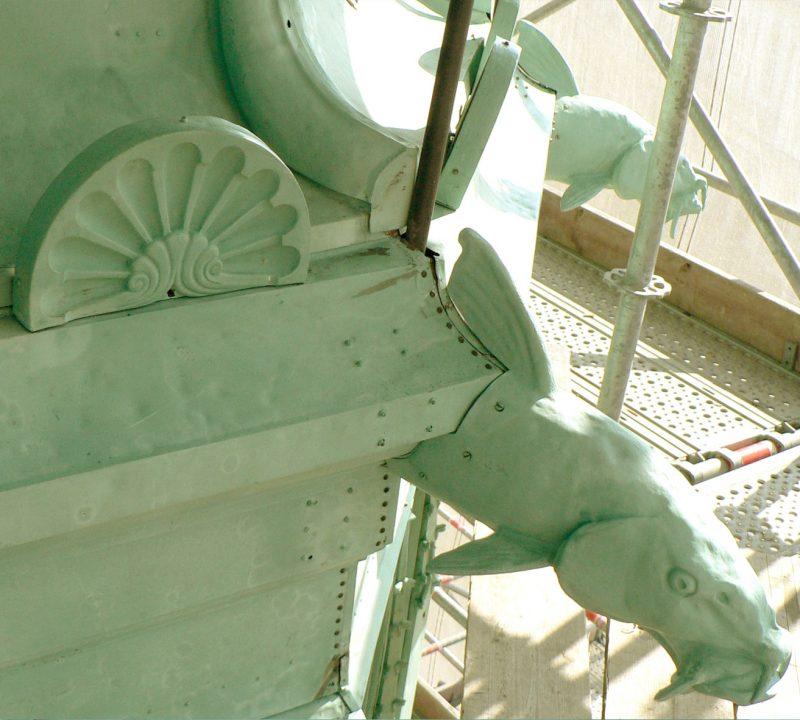 Agence Caillault ACMH -Palais ducal – Nancy – Détail de gargouille restaurée