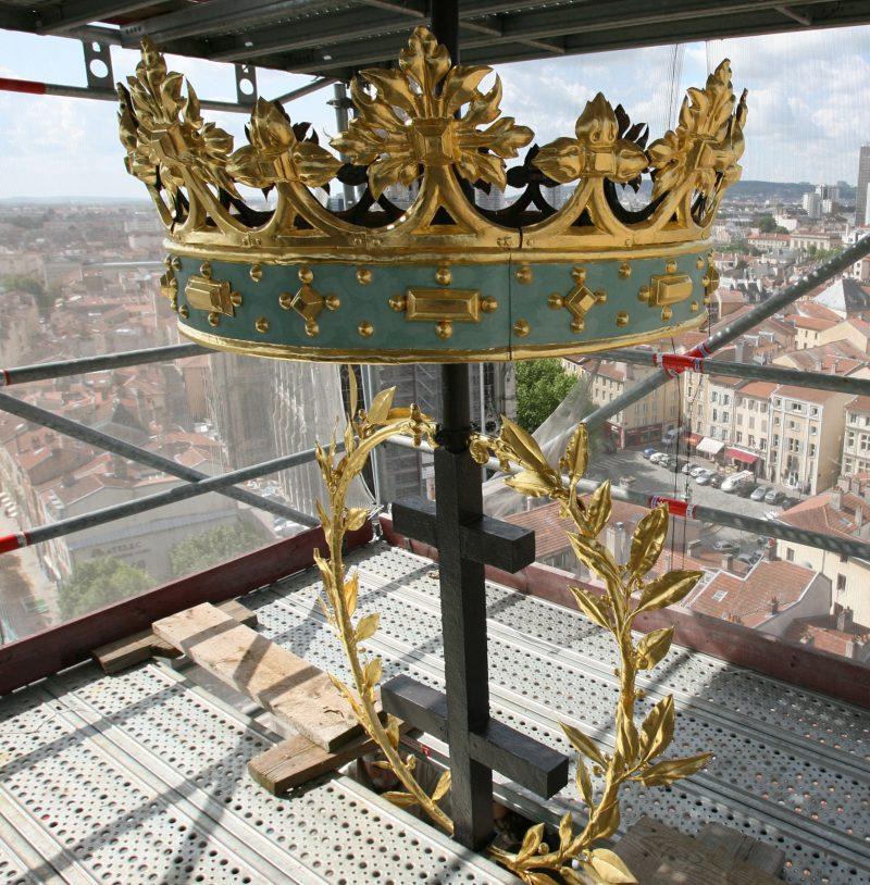 Agence Caillault ACMH -Palais ducal – Nancy – Détail de la couronne restaurée
