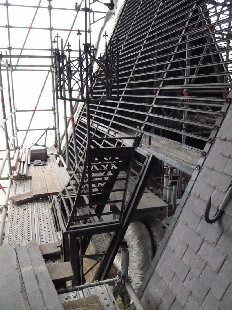 Agence Caillault ACMH -Palais ducal – Nancy – Ossature d'une lucarne restaurée