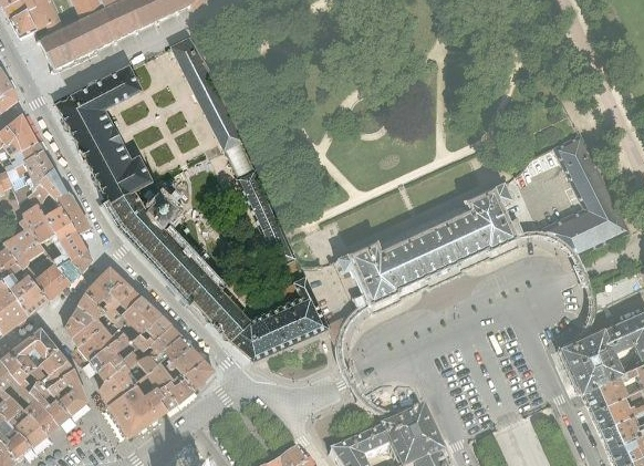 Agence Caillault ACMH -Palais ducal – Nancy – Vue aérienne