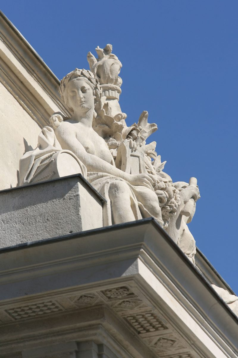 Agence Caillault ACMH – Porte Saint Catherine – Nancy – Sculptures de la façade ouest restaurées 1
