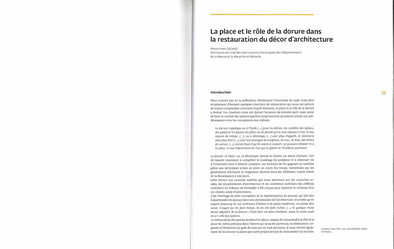 La place et le rôle de la dorure dans la restauration du décor d'architecture_Page_1
