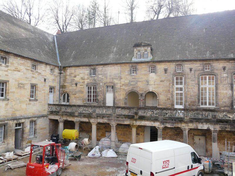 Agence Caillault ACMH – Collège Gilles de Trêves – Bar-le-Duc – Aile intérieure sud avant restauration
