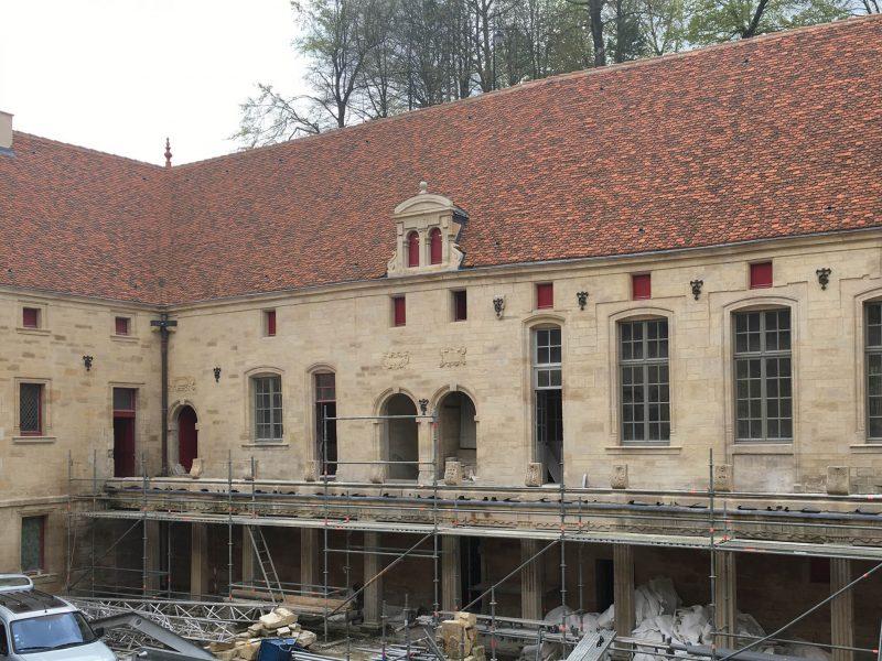 Agence Caillault ACMH – Collège Gilles de Trêves – Bar-le-Duc – Aile intérieure sud en cours de restauration