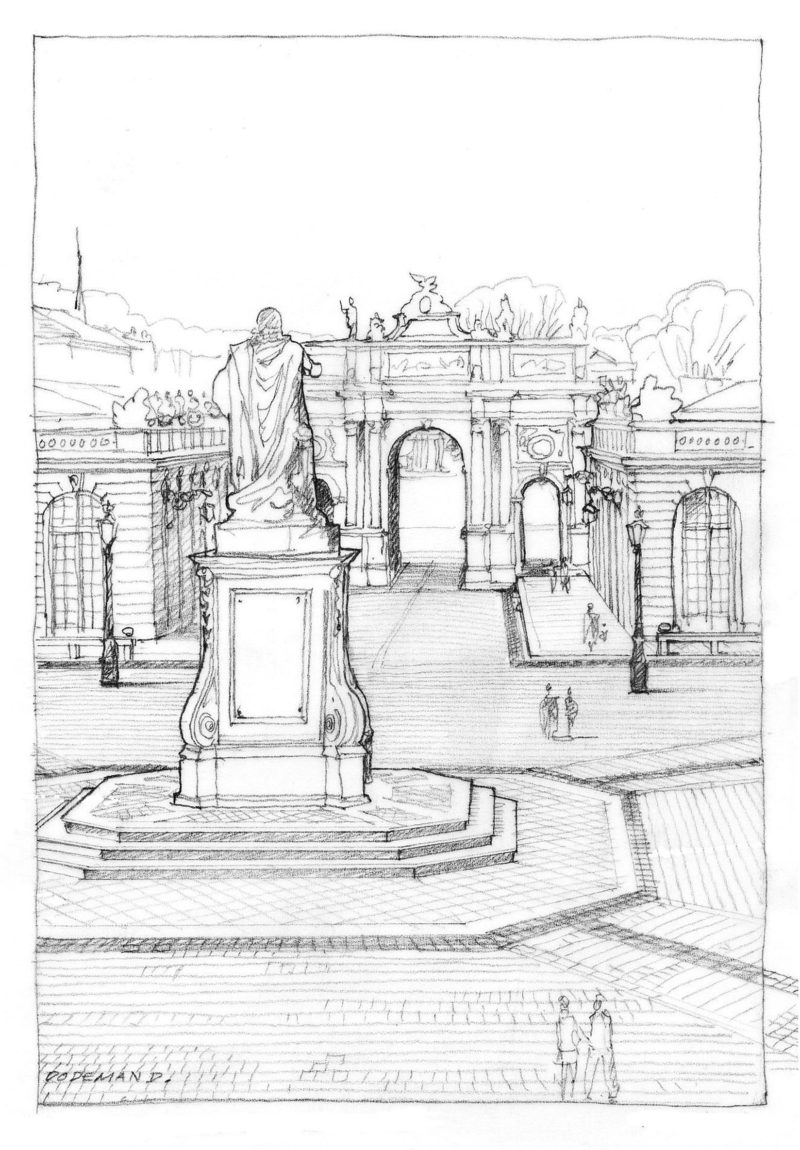 Agence Caillault ACMH – Place Stanislas – Nancy – Perspective par Denis Dodeman