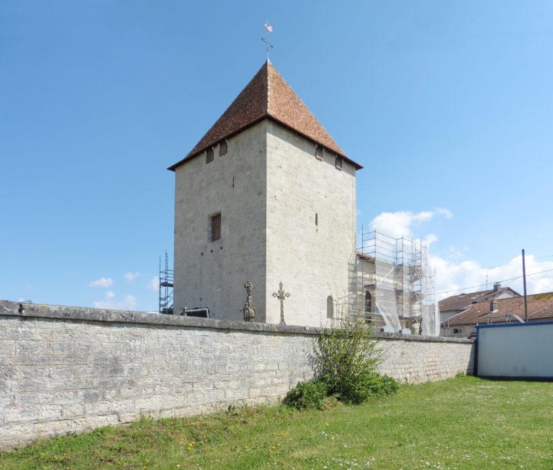Agence Caillault ACMH – VERTUZEY – Eglise Saint-Gorgon – en cours de restauration – avril 2015