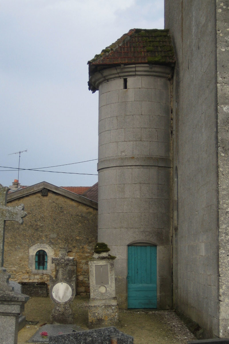 Agence Caillault ACMH – VERTUZEY – Eglise Saint-Gorgon – Tourelle avant restauration