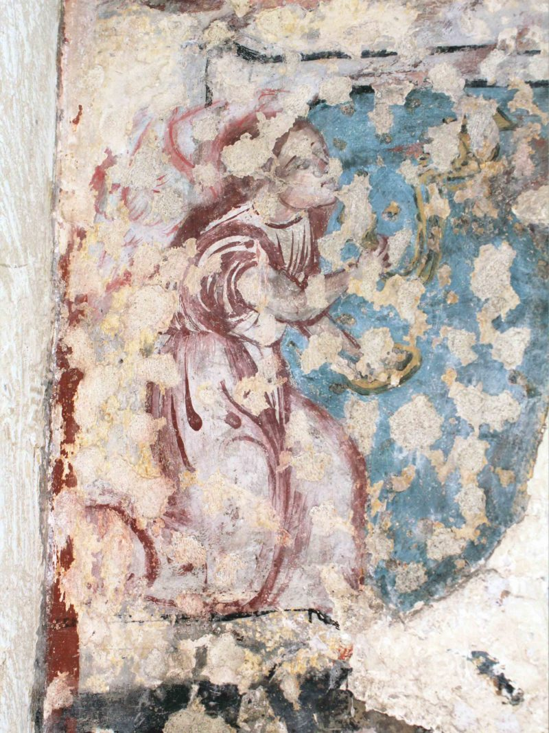Agence Caillault ACMH – VERTUZEY – Eglise Saint-Gorgon – Détail d'un ange encadrant l'armoire eucharistique (XVIe siècle)