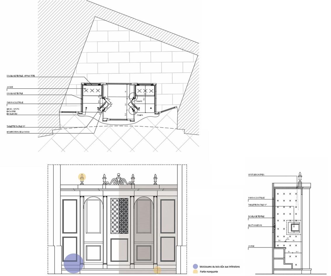 Agence Caillault ACMH et Philippe Maffre, architecte-scénographe – Chapelle Saint-Joseph – Toulouse – Confessionnaux