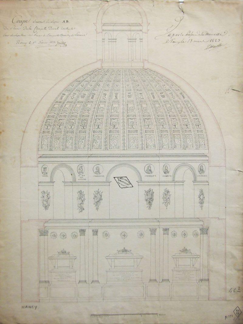 Agence Caillault ACMH – Chapelle des Cordeliers – Nancy – Coupe de 1823