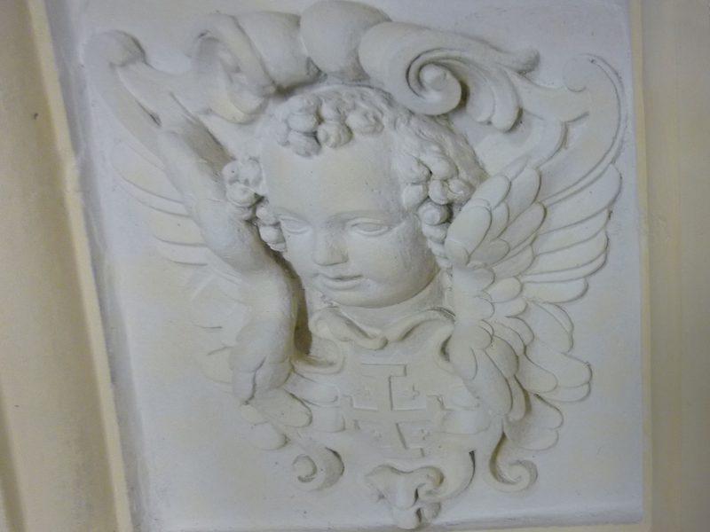 Agence Caillault ACMH – Chapelle des Cordeliers – Nancy – Panneau de plâtre après restauration
