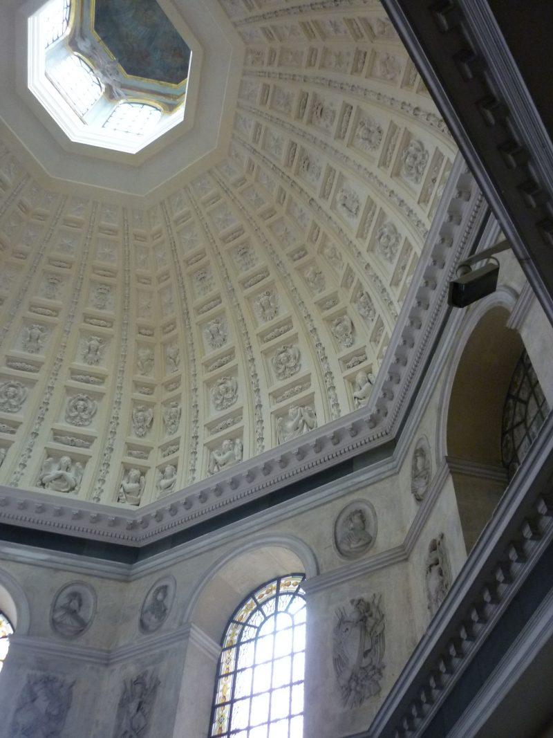 Agence Caillault ACMH – Chapelle des Cordeliers – Nancy – Vue de la coupole restaurée et du tambour