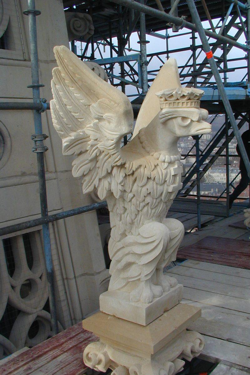 Agence Caillault ACMH – Eglise Saint Epvre – Nancy – Sculpture de la flèche restaurée