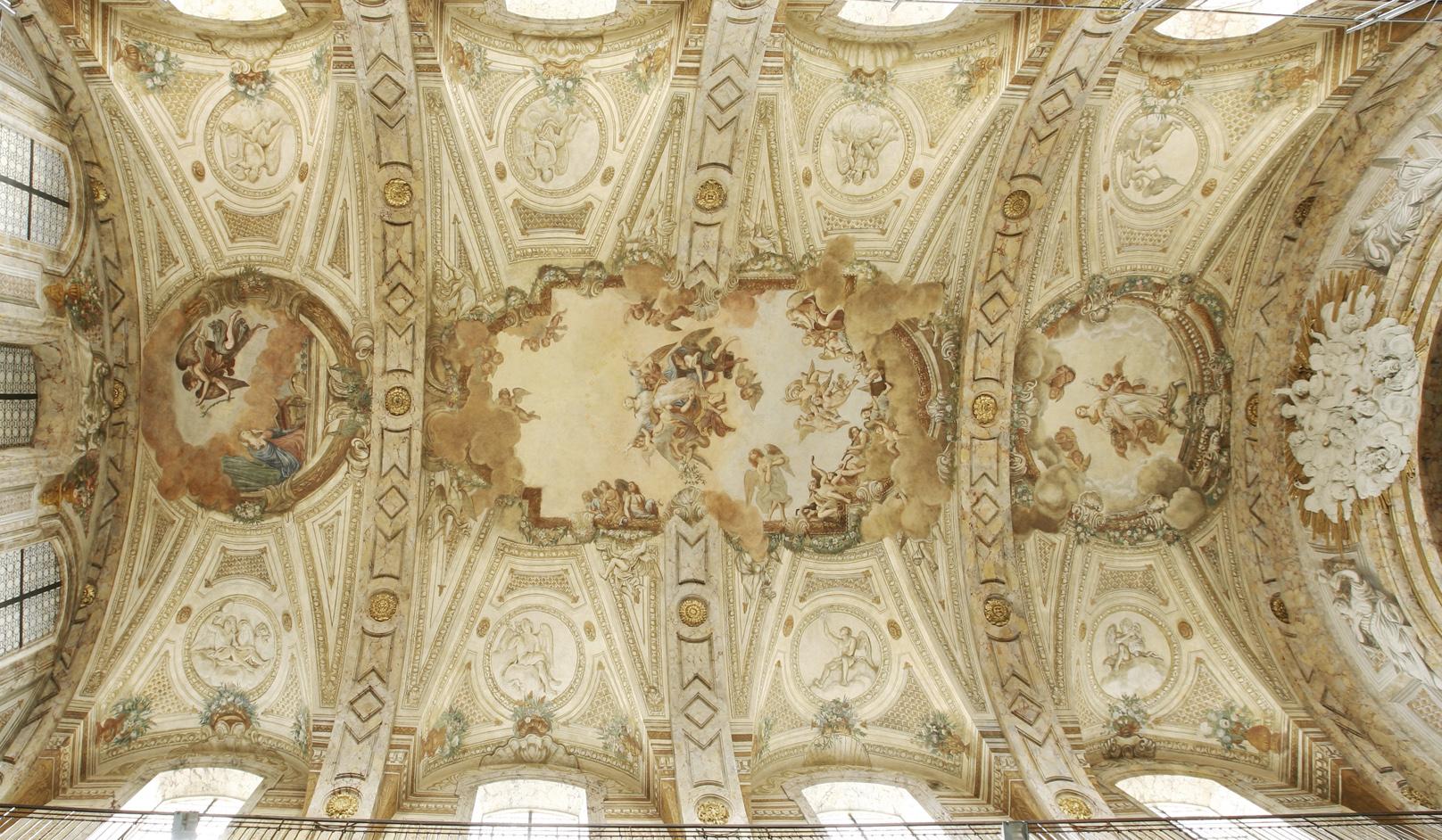 Agence Caillault ACMH – N-D de Bonsecours – Nancy – Vue générale du plafond après restauration
