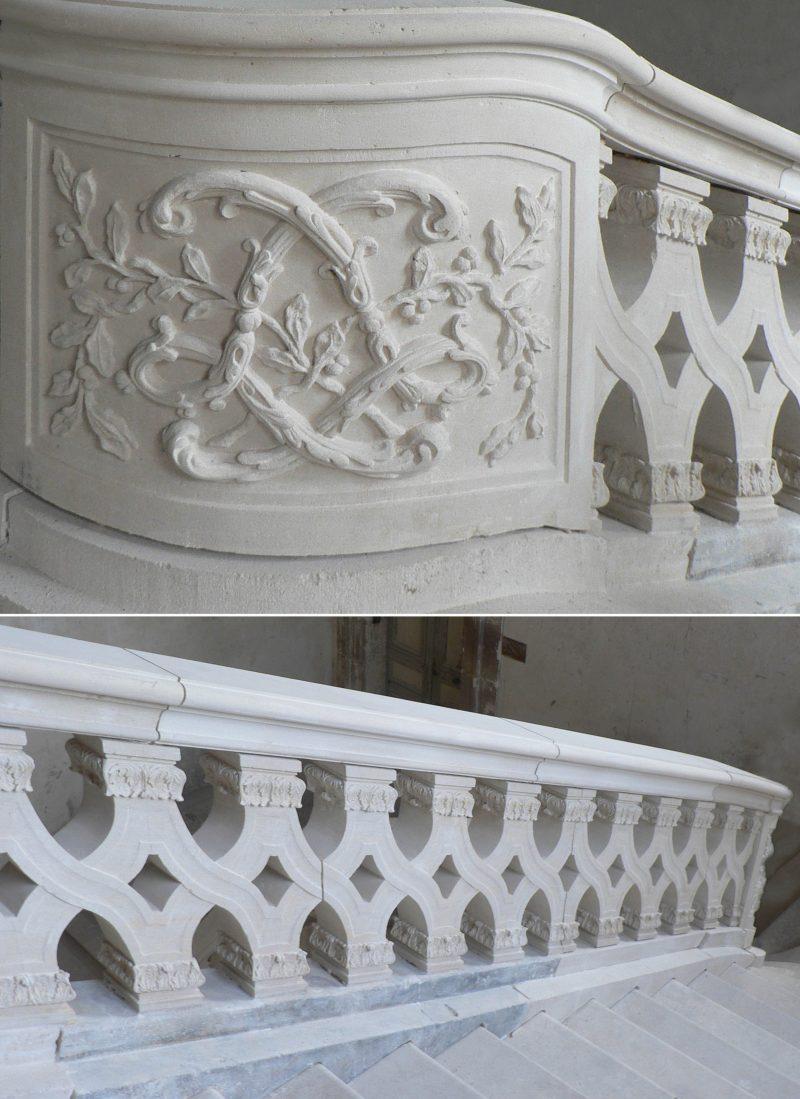 Agence Caillault ACMH – Palais ducal – Luneville – Balustrade de l'Escalier d'Honneur restauré