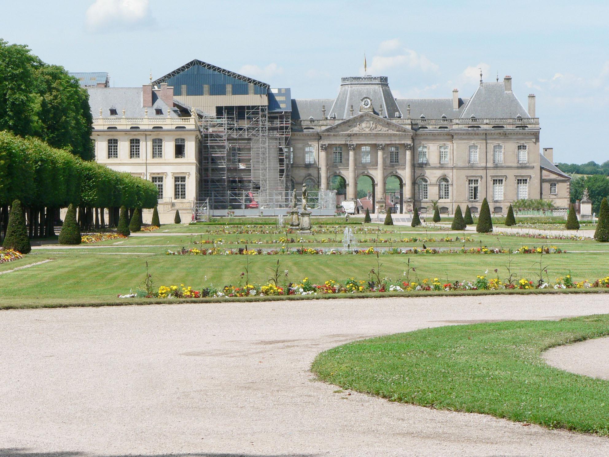 Agence Caillault ACMH – Palais ducal – Luneville – Vue du chantier depuis les jardins