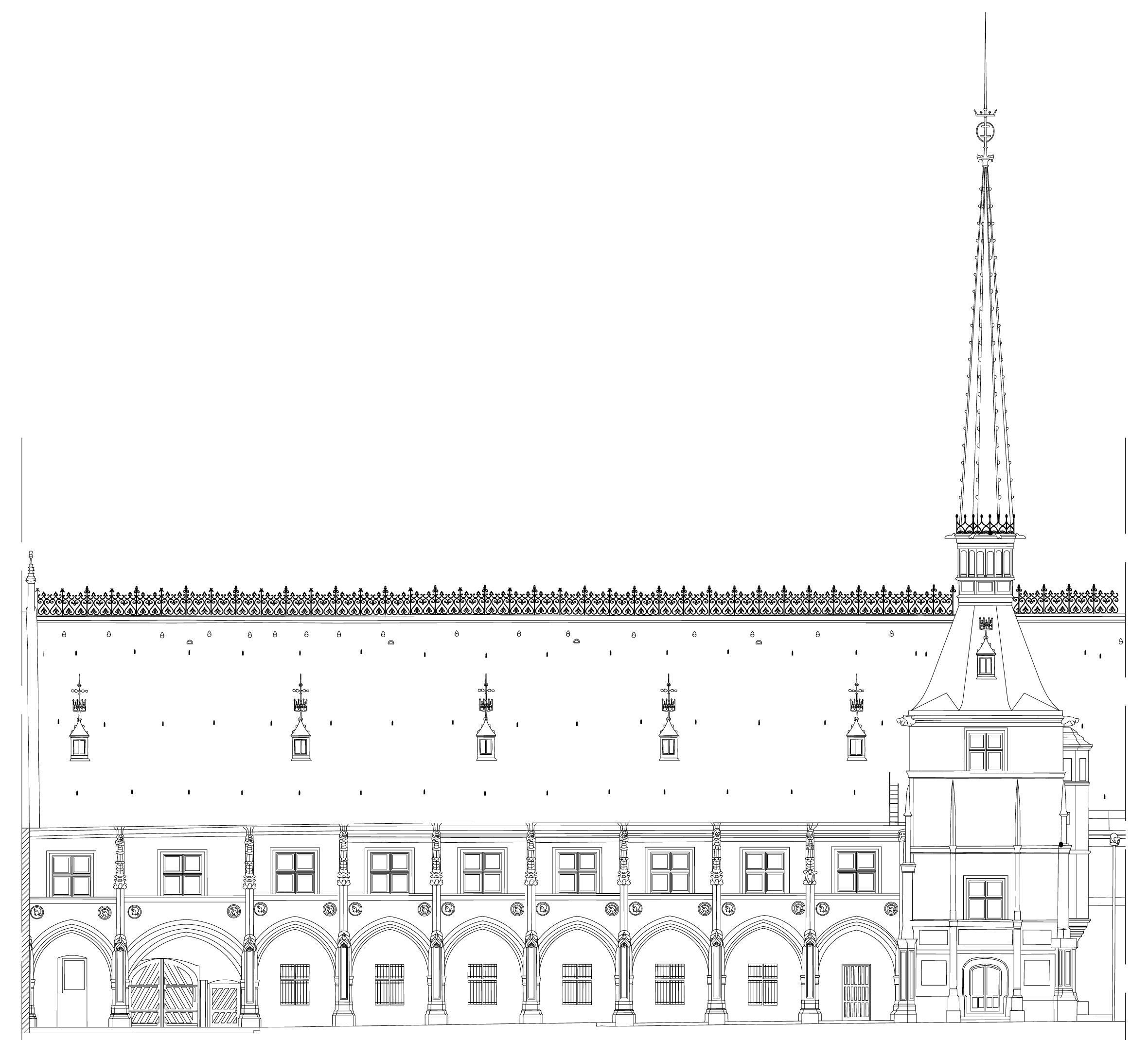 Agence Caillault ACMH -Palais ducal – Nancy – Elévation de la façade est