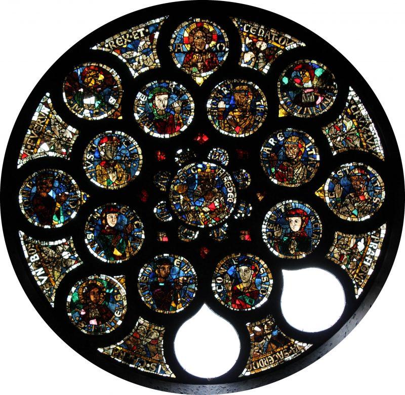 Agence Caillault ACMH – Transept sud de la Cathédrale – Strasbourg – Baie 214 (rose ouest de la façade sud)
