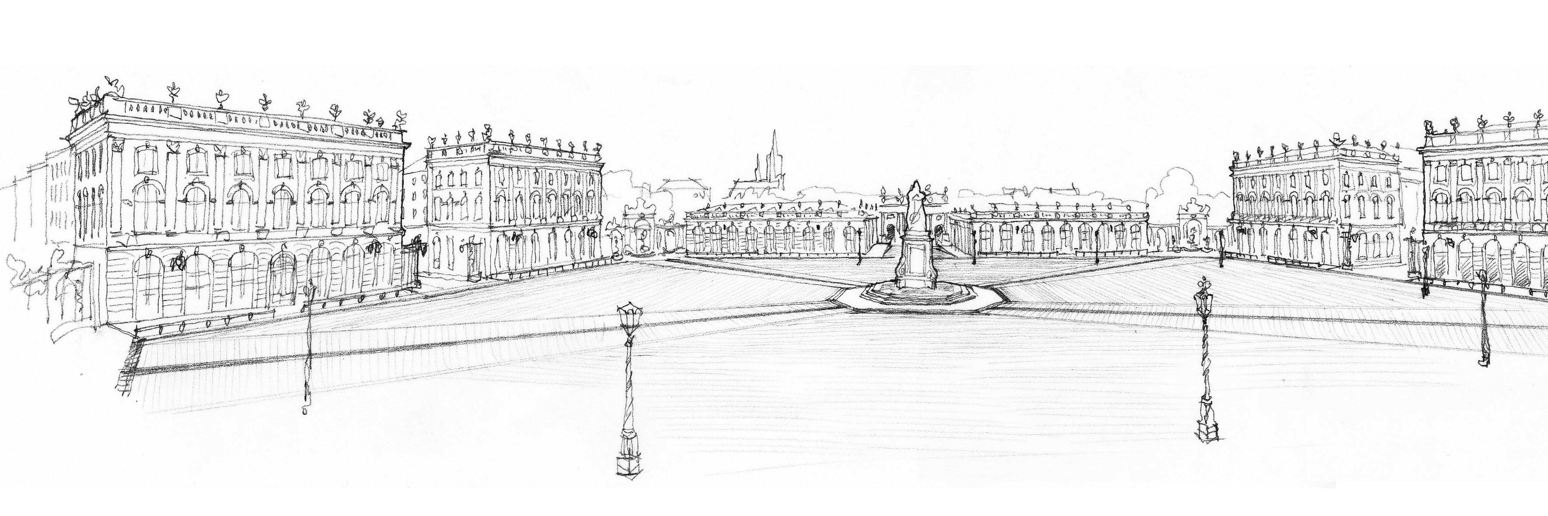 Agence Caillault ACMH – Place Stanislas – Nancy – Vue panoramique par Denis Dodeman