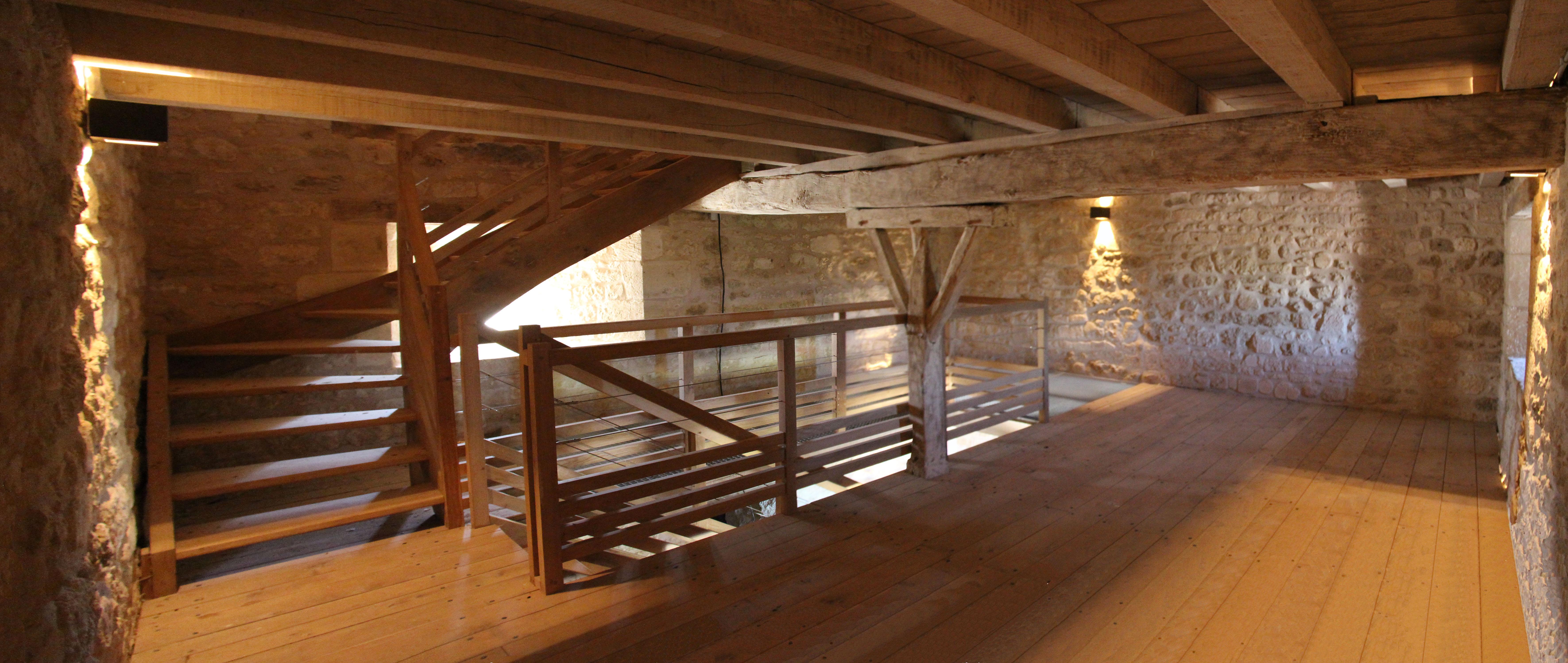 Agence Caillault ACMH – VERTUZEY – Eglise Saint-Gorgon – Aménagement intérieur du clocher