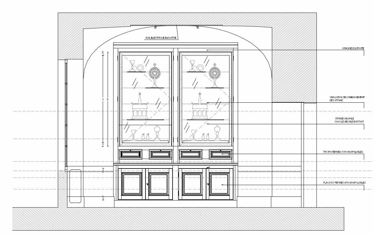 Agence Caillault ACMH et Philippe Maffre, architecte-scénographe – Chapelle Saint-Joseph – Toulouse – Sacristie Sud