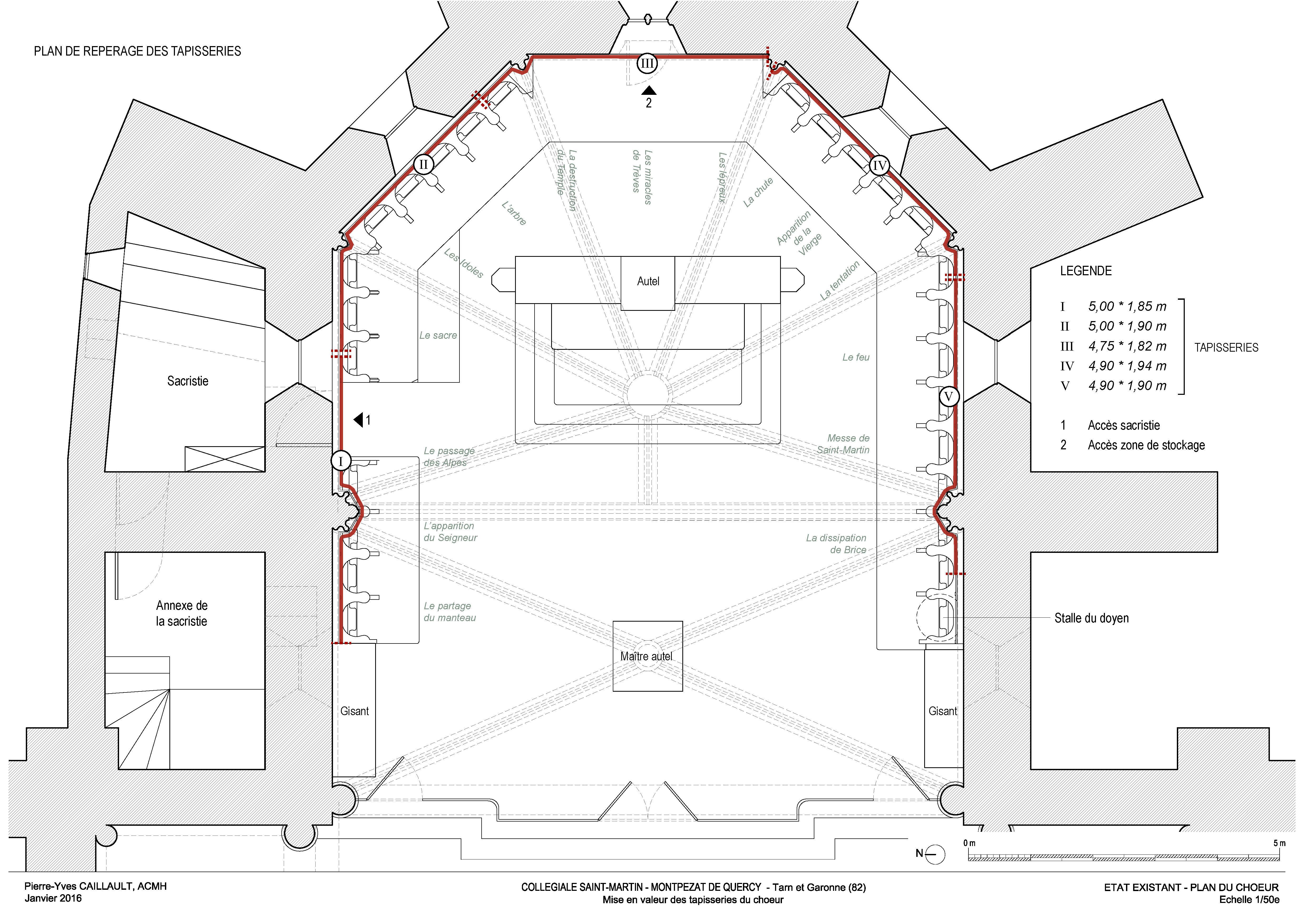 Agence Caillault ACMH – Collégiale Saint-Martin – Montpezat-de-Quercy – Plan de l'état avant travaux