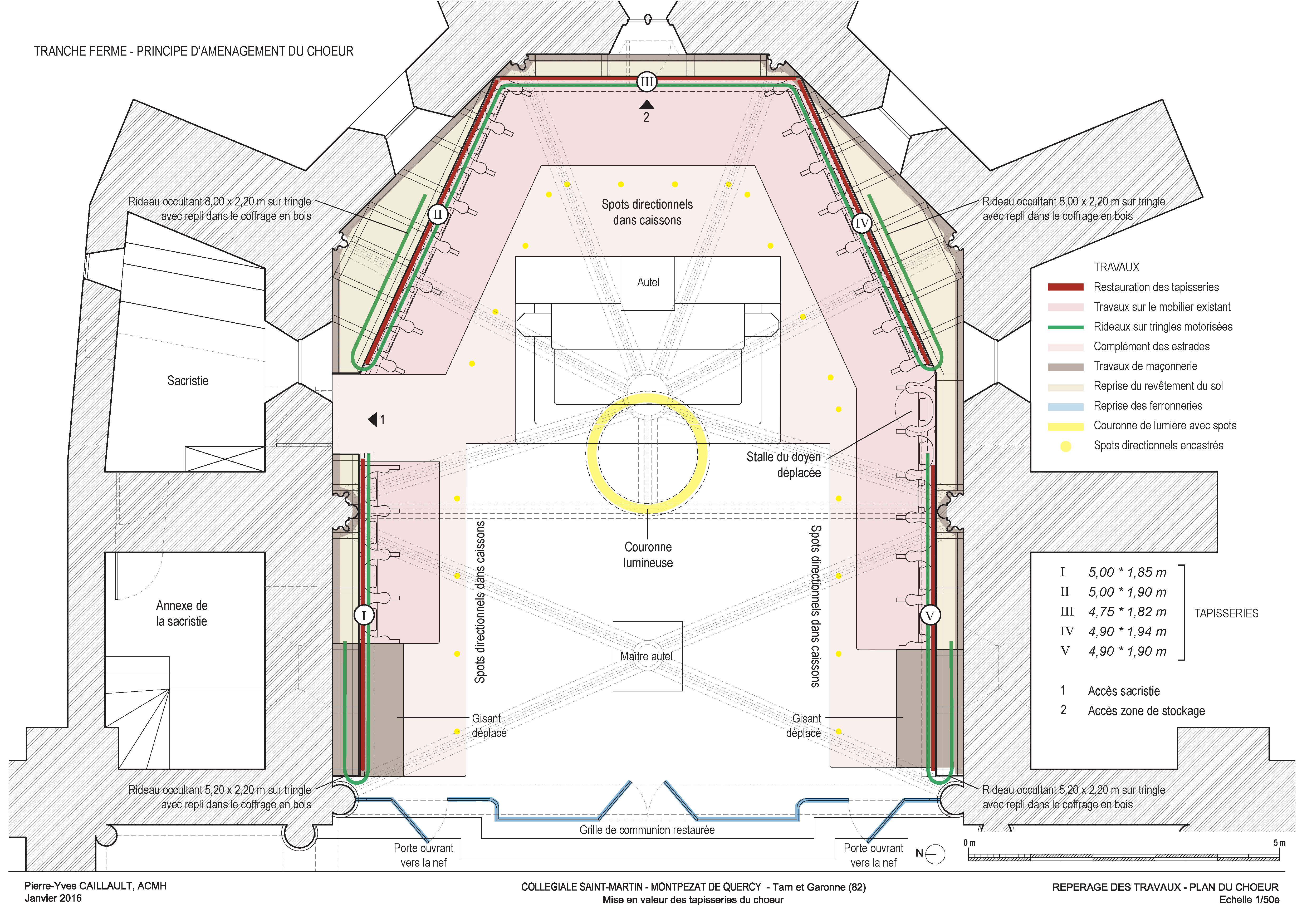 Agence Caillault ACMH – Collégiale Saint-Martin – Montpezat-de-Quercy – Plan de l'état projété