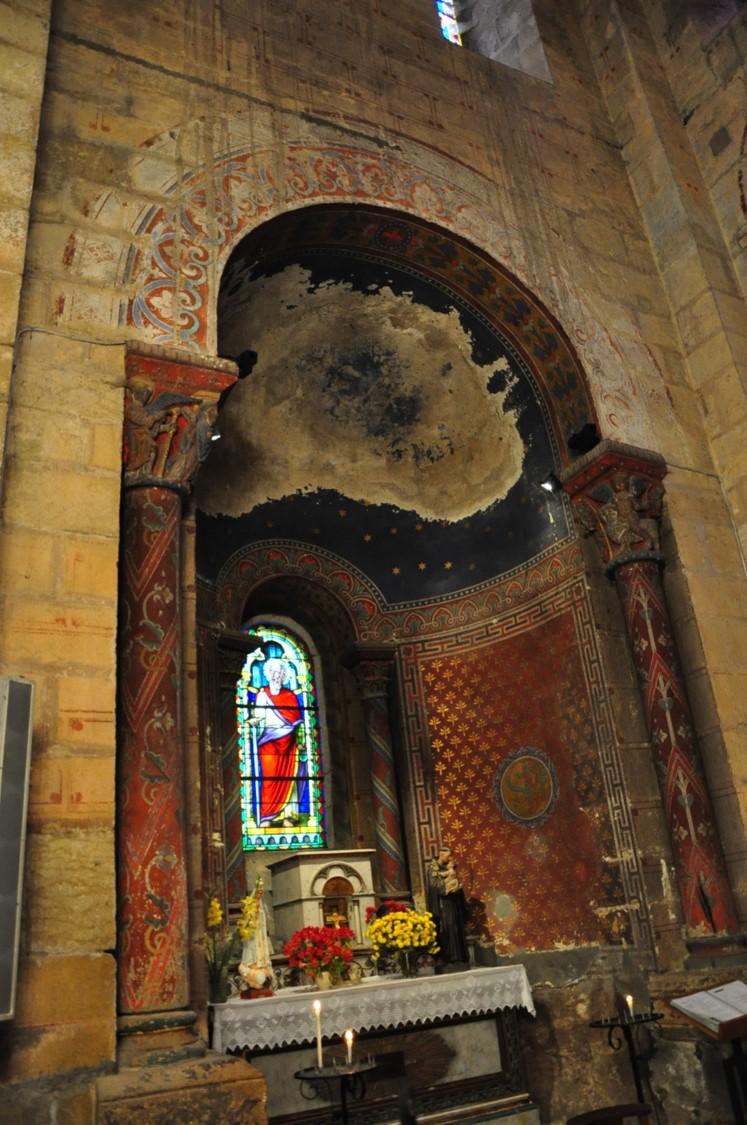 Agence Caillault ACMH – ISSOIRE – Abbatiale Saint-Austremoine – Chapelle sud avant restauration