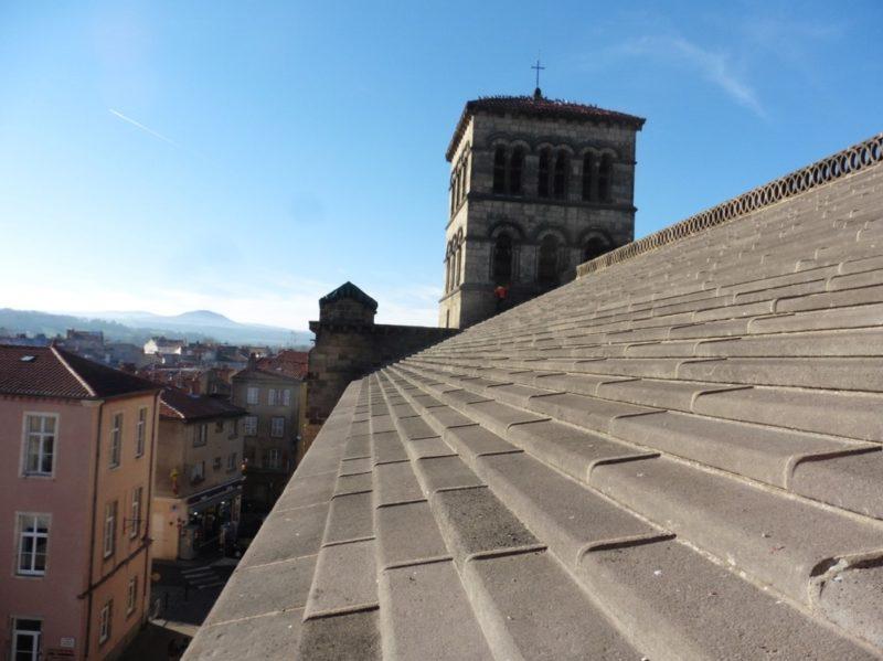 Agence Caillault ACMH – ISSOIRE – Abbatiale Saint-Austremoine – Couverture existante