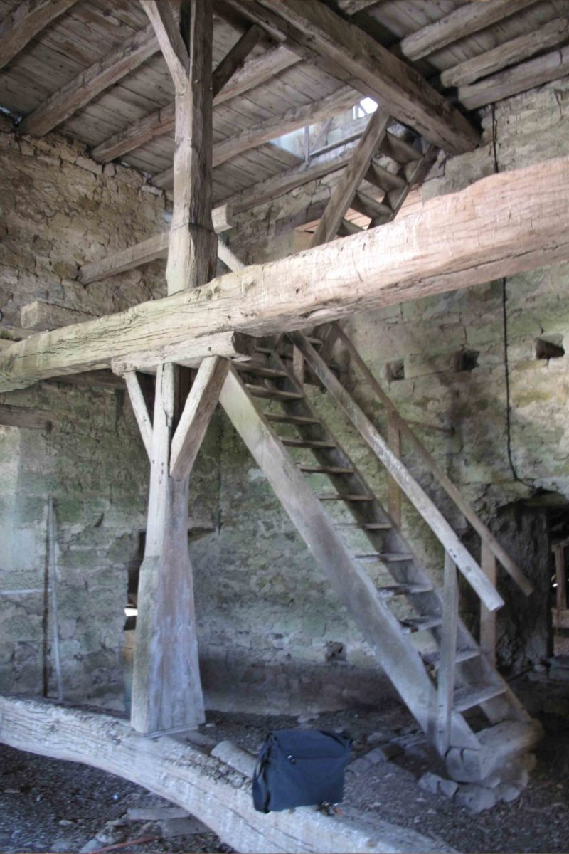 Agence Caillault ACMH – VERTUZEY – Eglise Saint-Gorgon – Intérieur du clocher avant travaux