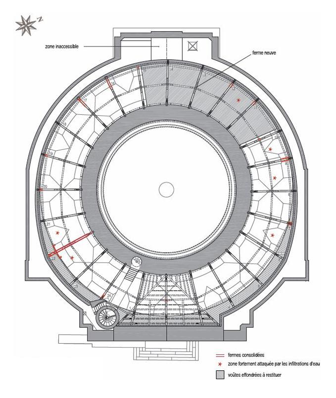 Agence Caillault ACMH – Chapelle Saint-Joseph – Toulouse – Plan de la charpente