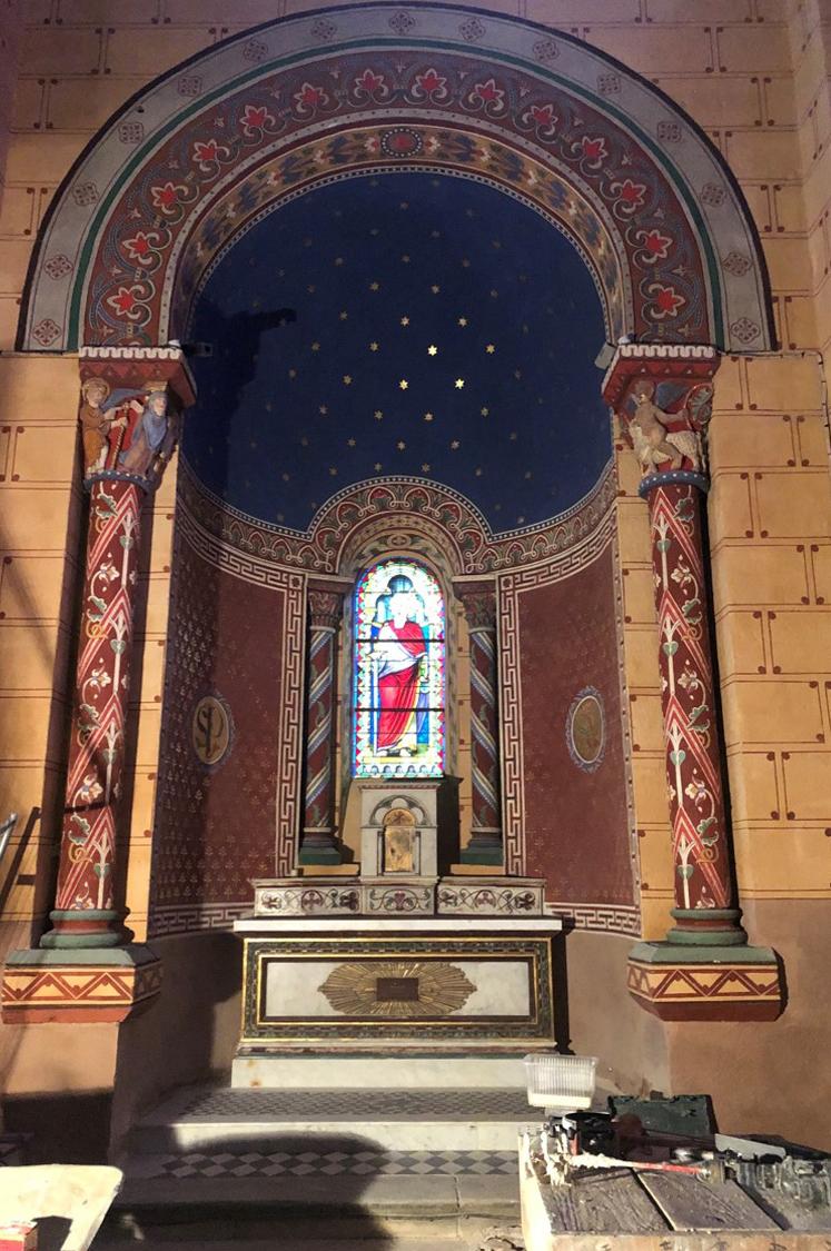 Agence Caillault ACMH – ISSOIRE – Abbatiale Saint-Austremoine – Chapelle sud après restauration