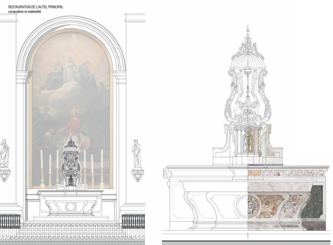 Agence Caillault ACMH – Chapelle Saint-Joseph – Toulouse – Autel principal