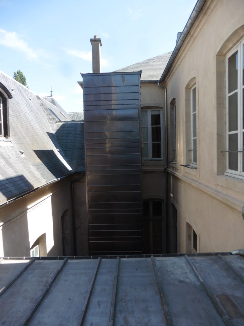 Agence Caillault ACMH – NANCY – Cour d'appel – Ascenseur réalisé.