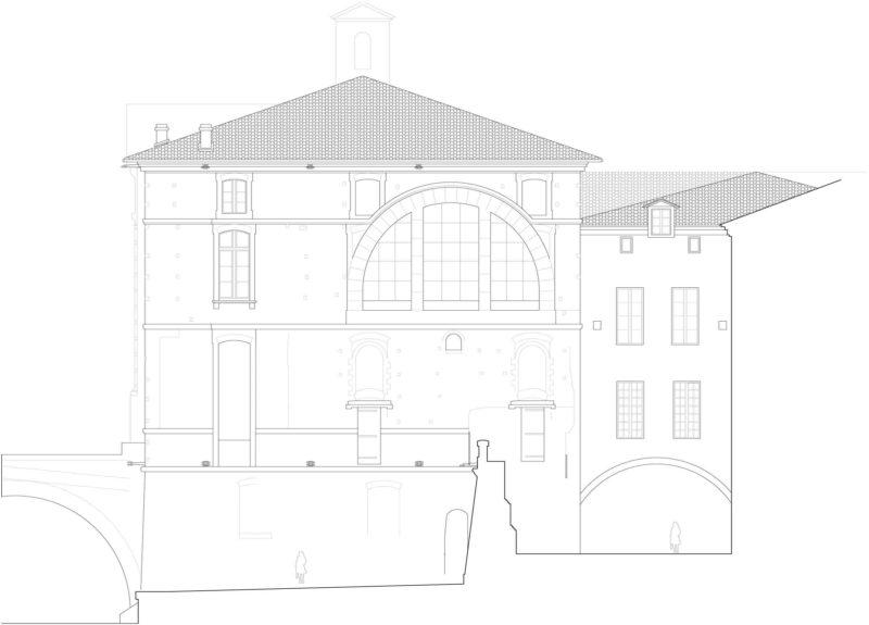 Agence Caillault ACMH – TOULOUSE – Hôtel-Dieu – Pignon nord – État projeté